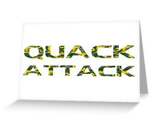 QUACK ATTACK CAMO Greeting Card