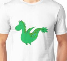 Cute cartoon dragon flying. Unisex T-Shirt