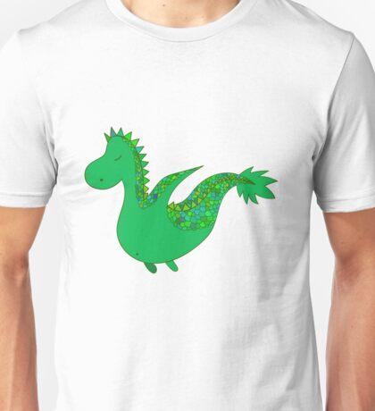 Cute cartoon dragon flying. Unisex T-Shirt