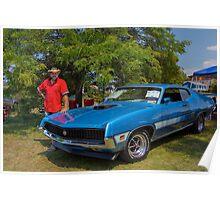 Robert et sa Ford Torino GT Poster