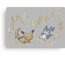 Pokemon vs Digimon Canvas Print