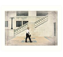 Walking, Château Laurier, Ottawa Art Print