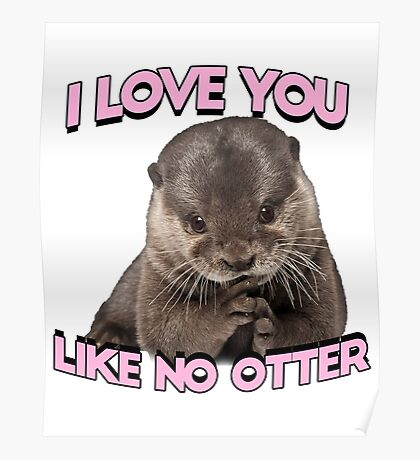 I love you like no otter Poster