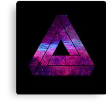 Abstract Geometry - Penrose Triangle - Galaxy Canvas Print