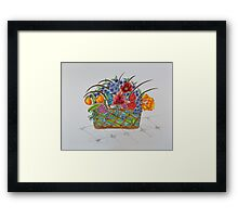 Flowers/20 Basket/2 Framed Print