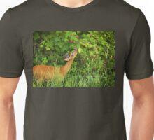 Deer Nibbling Wildflowers Unisex T-Shirt