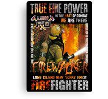 fire walker 8 Canvas Print