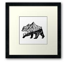 mountain bear Framed Print