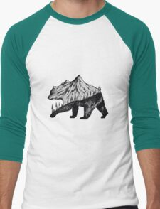 mountain bear Men's Baseball ¾ T-Shirt