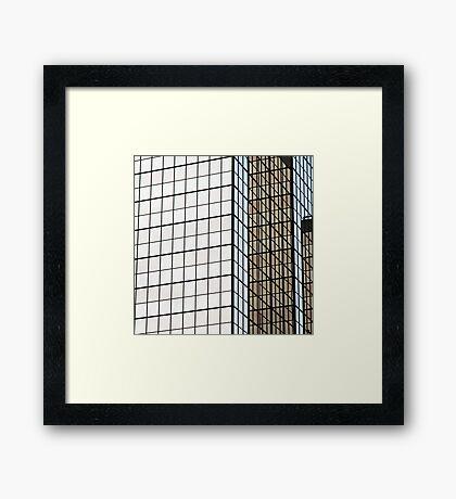 Graph paper Framed Print