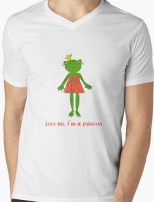 Love me. I'm a princess. Mens V-Neck T-Shirt