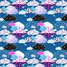 Seamless graphic pattern with geometric clouds by Tanor