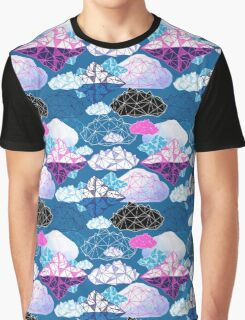 Seamless graphic pattern with geometric clouds Graphic T-Shirt