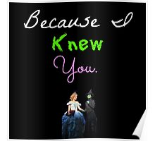 Wicked - Because I Knew You Poster