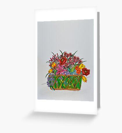 Flowers/15 - Basket/1 Greeting Card