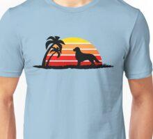 Golden Retriever on Sunset Beach Unisex T-Shirt