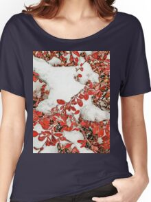 Leaves in the Snow Women's Relaxed Fit T-Shirt