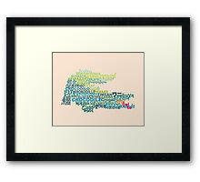 CROCODILE ~ in writing systems of the world Framed Print