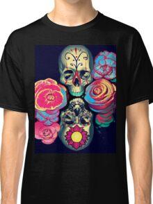 Skulls and Flowers Classic T-Shirt