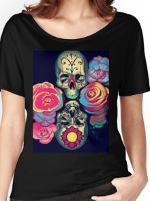 Skulls and Flowers Women's Relaxed Fit T-Shirt