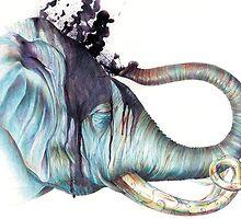 Elephant Shower by Brandon Keehner