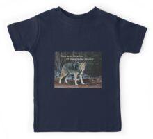 Menacing Wolf in the Woods Lead the Pack Kids Tee