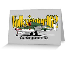 HE 162 Volksjager Greeting Card