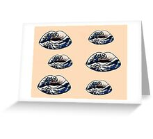 Lips Pattern Greeting Card