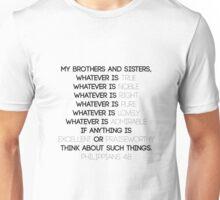 Philippians 4:8 Unisex T-Shirt