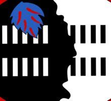 Swaziland flag and outline Sticker