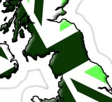 UK flag and outline Green Sticker