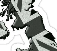 UK flag and outline Mono Sticker