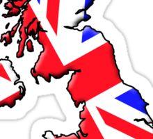 British flag and outline Sticker