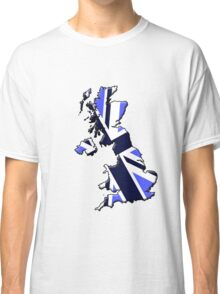 UK flag and outline Blue Classic T-Shirt