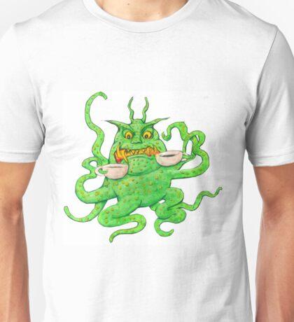 Slimy Monster likes Coffee Unisex T-Shirt