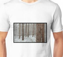 April snowstorm on pines Unisex T-Shirt
