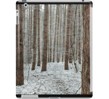 April snowstorm on pines iPad Case/Skin