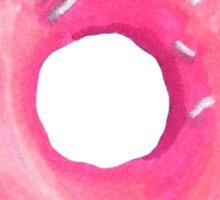 Pink donut sticker Sticker