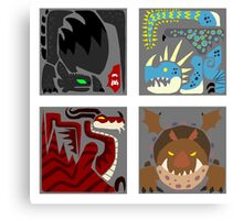 Monster Crests Canvas Print