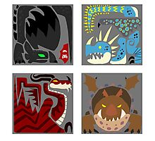 Monster Crests Photographic Print