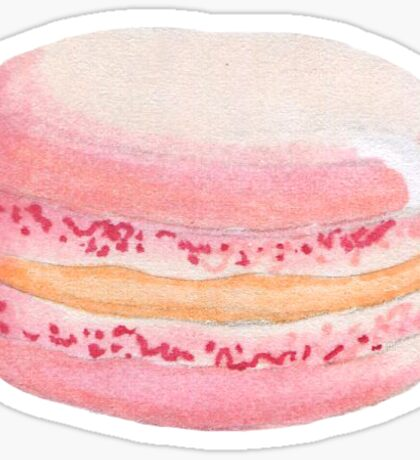 Macaron, macaroon, pink, dessert, cake, treat, macaron sticker Sticker