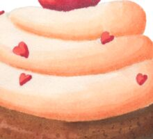 Cherry cupcake, dessert, pink cupcake, cherry, cupcake, cake Sticker