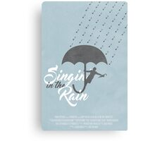 Singin' in the Rain Poster Canvas Print