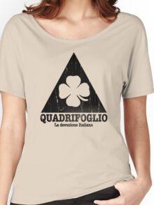 Quadrifoglio Cutout Black Vintage Graphic Women's Relaxed Fit T-Shirt