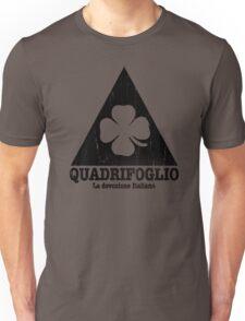 Quadrifoglio Cutout Black Vintage Graphic Unisex T-Shirt
