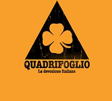 Quadrifoglio Cutout Black Vintage Graphic Unisex T-Shirt