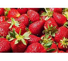 Red Strawberries Berries Fruit Strawberry Berry Background Photographic Print