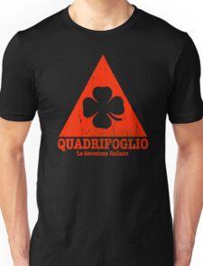 Quadrifoglio Cutout Red Vintage Graphic Unisex T-Shirt