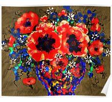 Joyful Poppies Poster