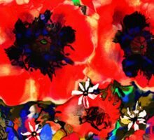 Joyful Poppies Sticker